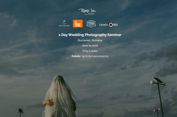 1 Day Wedding Photography Seminar - Bucharest, 24 June