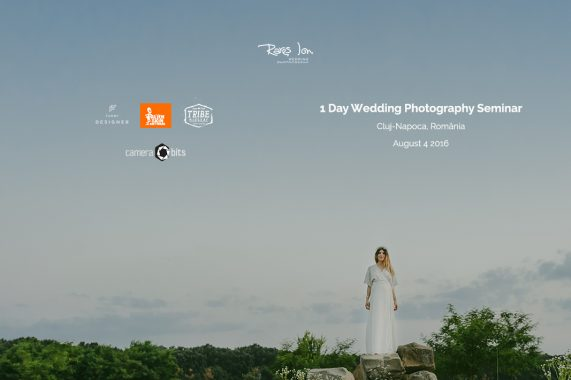 1 Day Wedding Photography Seminar - August 4, Cluj-Napoca, Romania